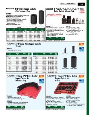 Sunex 368207 3//8-Inch Drive 7-mm 12-Point Deep Impact Socket