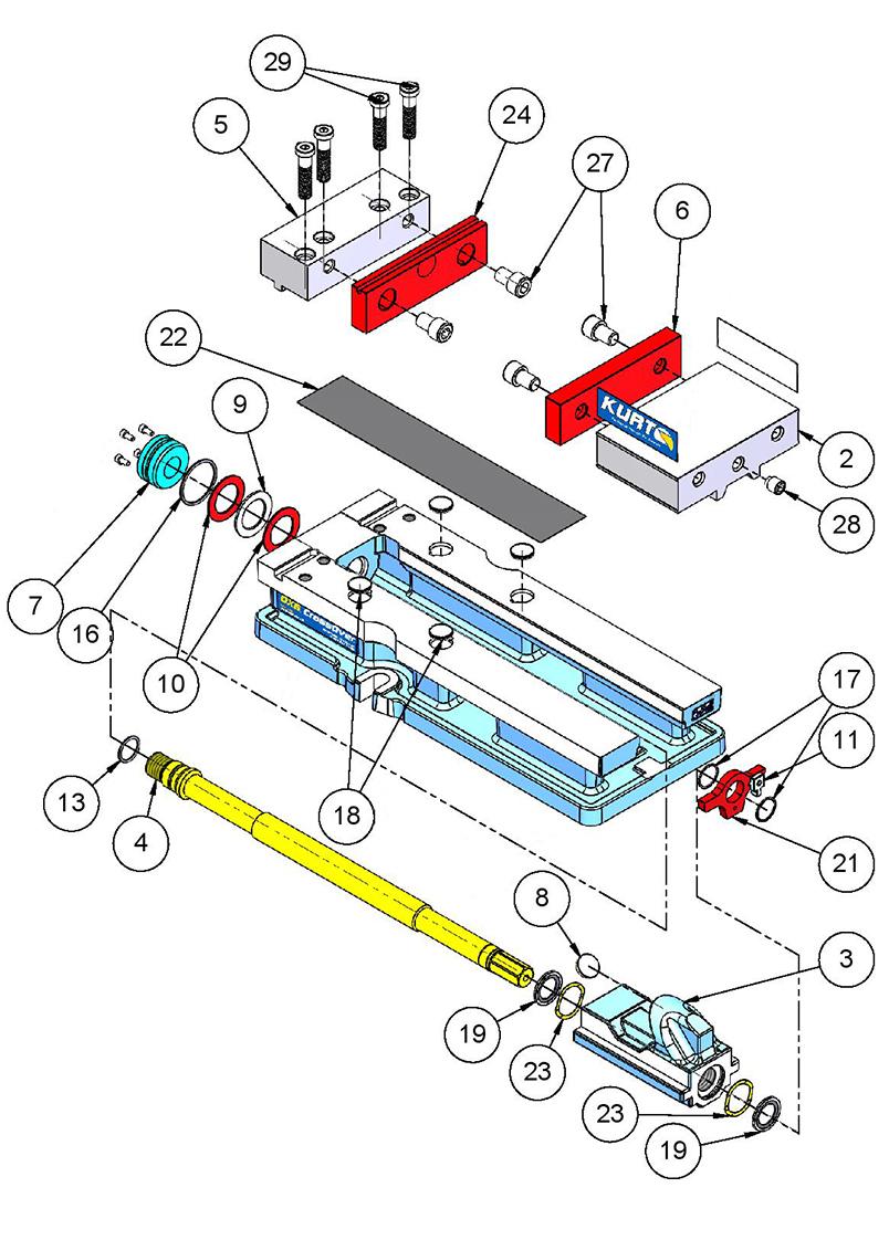 Kurt DX6 Replacement Parts