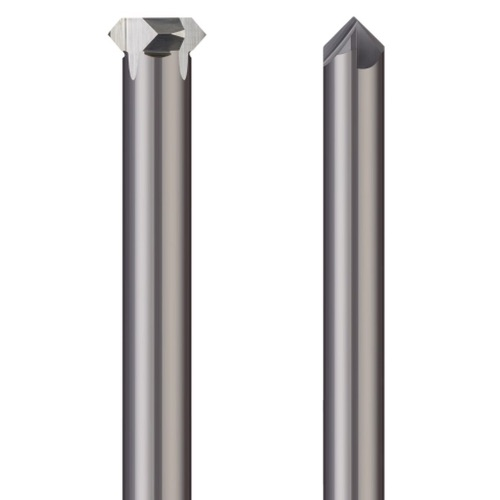 2.40 Overall Length Solid Carbide MICRO 100 Indexable Chamfering Tool 1//4 Shank Dia.
